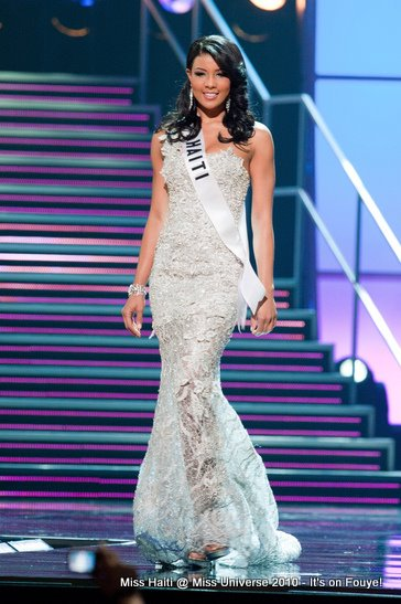 Sarodj Bertin, Miss Haiti At Miss Universe 2010 - Evening Gown Competition