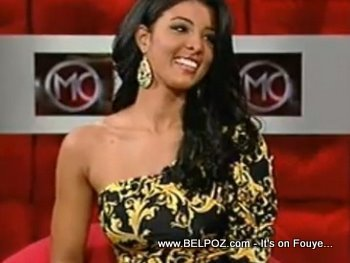 Sarodj Bertin Miss Haiti Universe 2010 TV Interview
