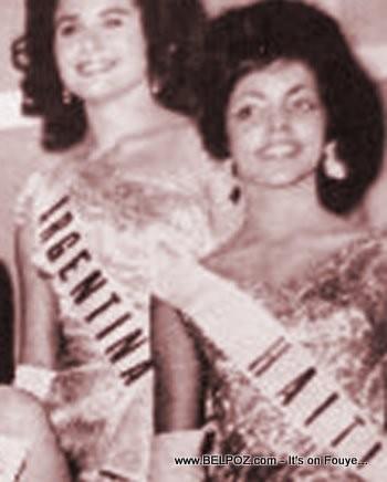 Evelyn Miot, Miss Haiti 1962, First Black Miss Universe Finalist