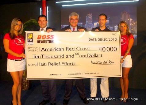 IDT Boss Revolution Donation For Haiti Earthquake Relief