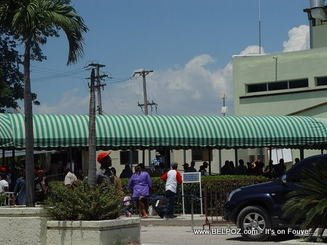 Haiti International Airport Front Of Airport