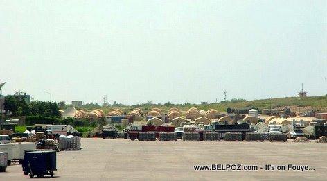 Earthquake Donations Sitting At The Haiti International Airport