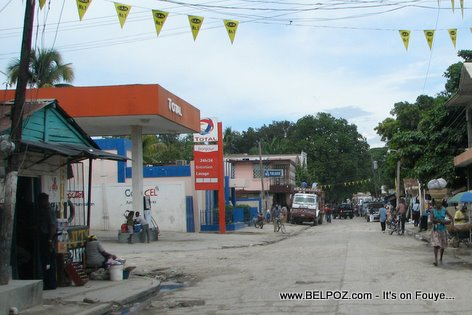 Total Gas Station Mirebalais Haiti