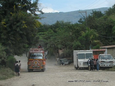 Transport Bus Beth Israel Coming From Hinche Mirebalais Haiti