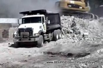Haiti Recovery, Dumptruck Removing Debris