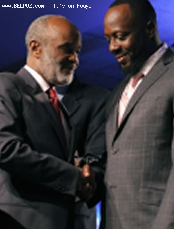 Rene Preval And Wyclef Jean At Clinton Clobal Initiative