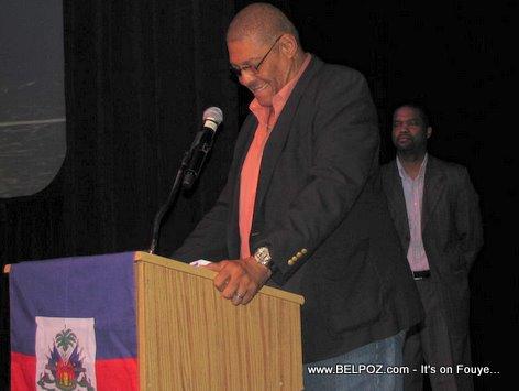 Bob Lemoine Introduces Charlito Baker At Town Hall Meeting