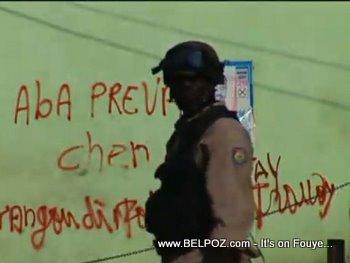 Haiti Police In Riot Gear