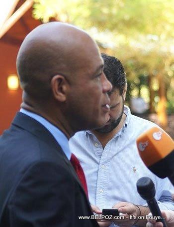 Michel Martelly Antonio Sola Karibe Press Conference