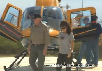 Sarah Palin Lands In Haiti