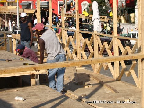 Haiti Kanaval Stand Carnival Stand Construction
