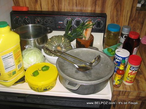 Soup Joumou Ingredients