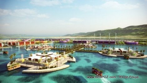 Floating Island In Harvest City, The Floating City In Haiti