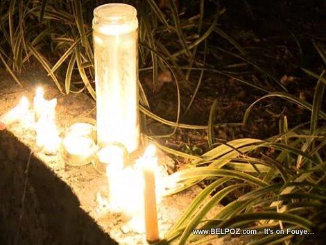 Candlelight Vigil At The Haitian Embassy
