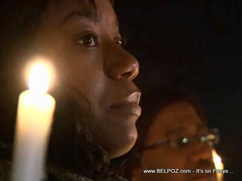Candlelight Vigil At The Haitian Embassy