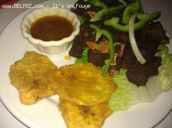 Tassot Cabrit, Bannann Peze - Haitian Food
