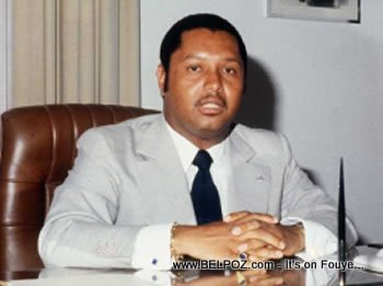 Jean Claude Duvalier President Of Haiti