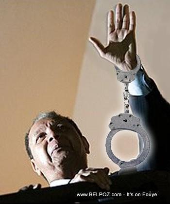 Arrest Jean-Claude Duvalier in Handcuffs