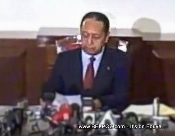 Jean Claude Duvalier  Press Conference
