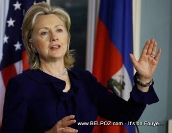 Secretary Of State Hillary Clinton Talks About Haiti
