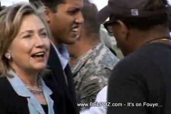 Hillary Clinton In Haiti After The Earthquake