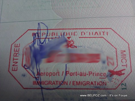 Haiti Immigration Stamp Haitian Passport
