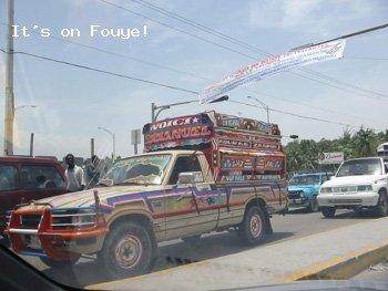 Camionette in Haiti