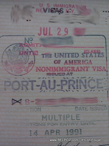 USA Visa Multiple On A Haitian Passport