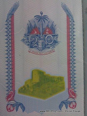 Haitian Passport Inside Front Cover