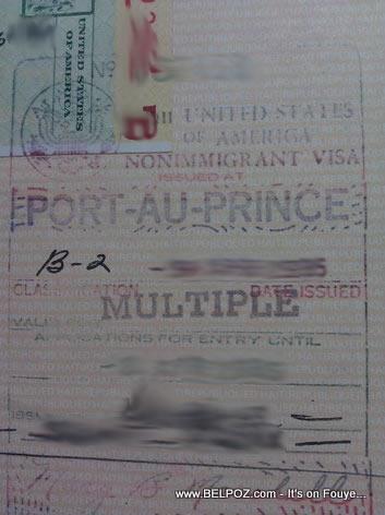 USA Visa Multiple On A Haitian Passport