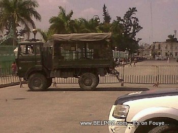 Anti Preval Riots In Haiti MINUSTAH Barricade Haitian National Palace