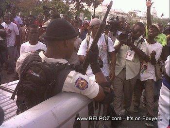 Anti Preval Riots In Haiti Haitian Police In Riot Gear