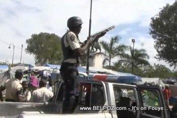 Anti Preval Protest Haiti 7 Fevrier 2011 Haitian Riot Police