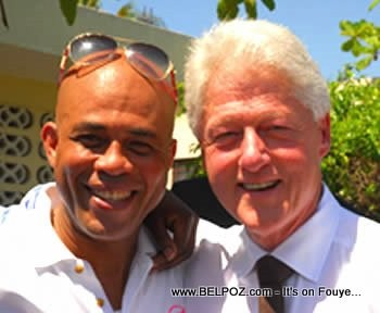 Bill Clinton and Michel Martelly
