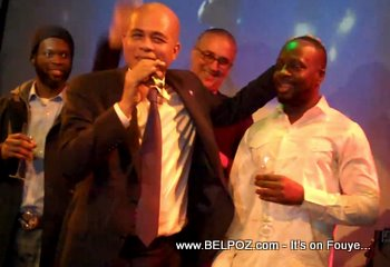 Michel Martelly and Wyclef Campaining At SOBs NYC