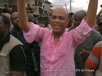 Michel Martelly Campaigning In Cap Haitien