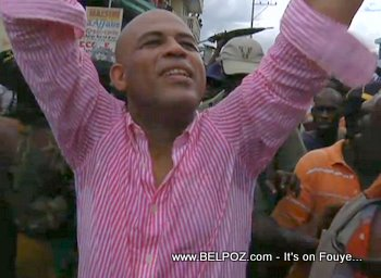 Michel Martelly Campaigning In Cap Haitient
