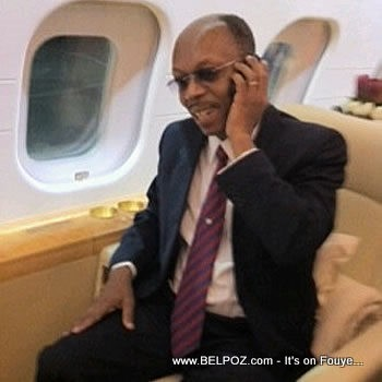 President Aristide on the Plane Back To Haiti