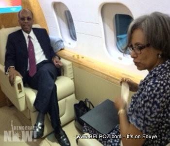 President Aristide on the Plane Back To Haiti
