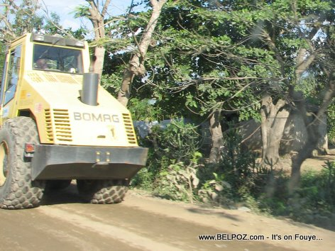 Caterpillar Heavy Equipment Road Building Project Trou Du Nord Haiti