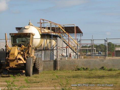 Caterpillar Grader Natural Gas Storage Station Trou Du Nord Haiti