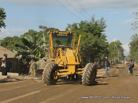 Caterpillar Grader Road Building Project Trou Du Nord Haiti