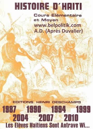 Histoire D'Haiti - Editions Henri Deschamps
