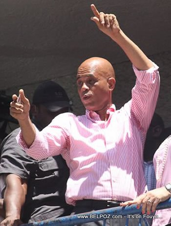 Michel Martelly After Voting For Himself As President Of Haiti