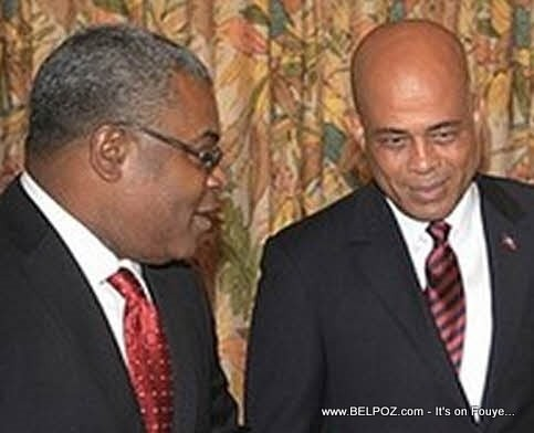 Michel Martelly and Jean-Max Bellerive