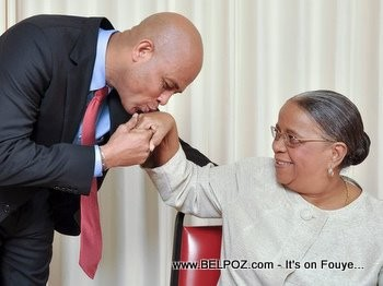 Michel Martelly Kissing Mirlande Manigat