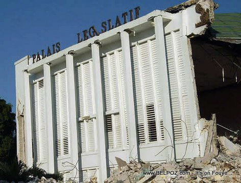 Collapsed Haitian Parliament Building - Palais Legislatif