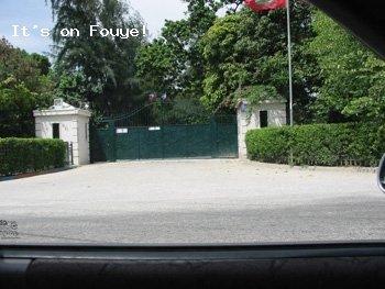 Jean Bertrand Aristide Haiti Mansion, Front Gate
