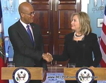 Secretary Hillary Clinton And President Michel Martelly