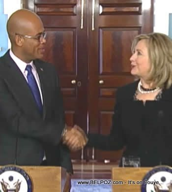 Hillary Clinton And Michel Martelly At The US State Department